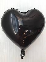 """Фольгированные шары """"Сердечки"""" 18"""" (45 см)  Черный Balloons"""