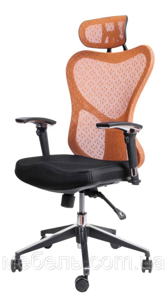 Кресло в офис Barsky Butterfly Black Fly-01 orange