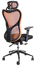 Кресло в офис Barsky Butterfly Black Fly-01 orange, фото 3