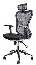 Офисное сеточное кресло Barsky Fly-03 Butterfly White/Black, фото 2