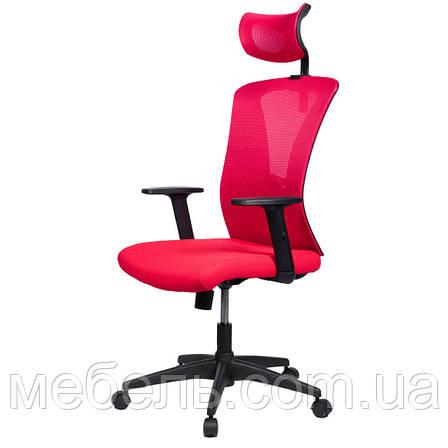 Офисное кресло Barsky Mesh BM-01 сетка красная, фото 2