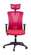 Офисное кресло Barsky Mesh BM-01 сетка красная, фото 3
