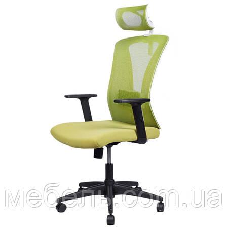 Кресло офисное Barsky Mesh BM-06 сетка олива, фото 2