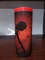 Свеча декупаж столбик круглий (370-380 г), фото 1