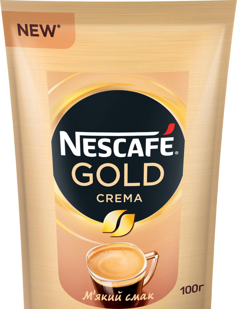 """Кофе расстворимый Nescafe Gold  Crema 100г """"Nescafe"""""""