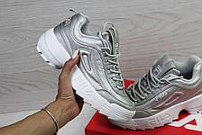 Модные подростковые кроссовки Fila,серебристые 39,41р, фото 3