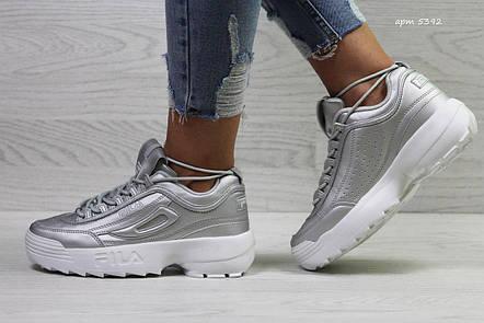 Модные подростковые кроссовки Fila,серебристые 39,41р, фото 2