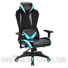 Кресло игровое геймерское Barsky Game Mesh Black/Blue BGM-01, фото 3