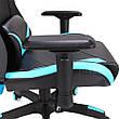 Кресло игровое геймерское Barsky Game Mesh Black/Blue BGM-01, фото 4