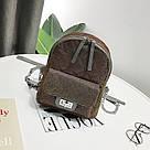 Рюкзак блестящий стеганый коричневый., фото 2