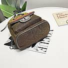 Рюкзак блестящий стеганый коричневый., фото 5