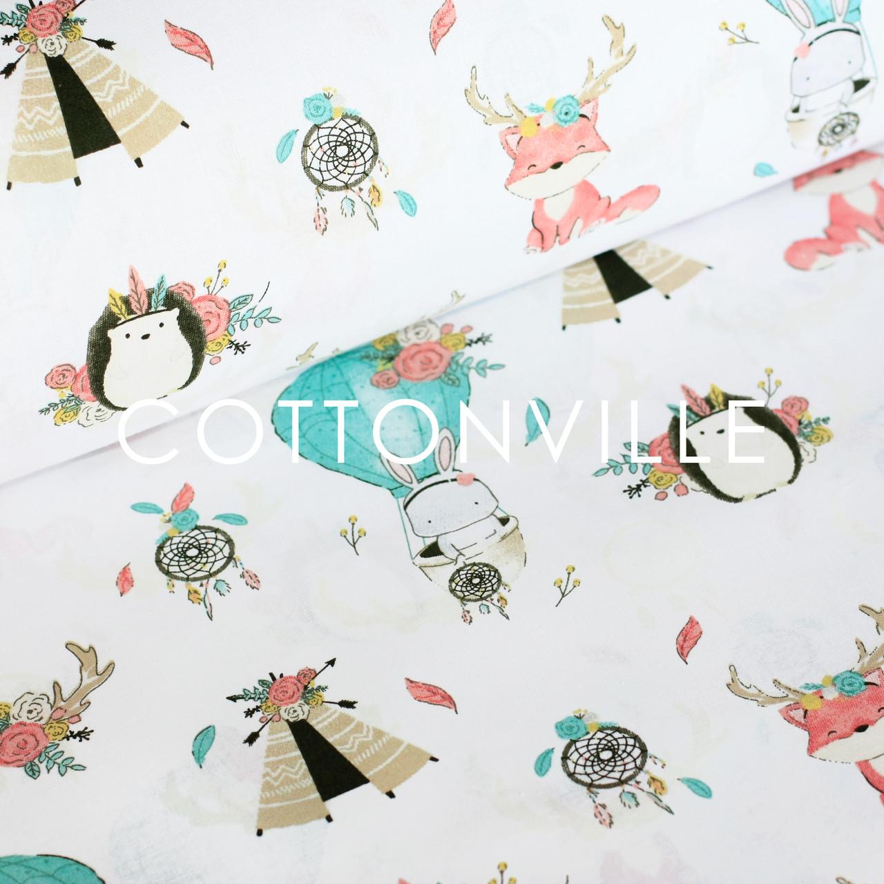 338e949c8af9 Отрезы хлопковой ткани Удивительный сон белая - COTTONville • ткани для  шитья и рукоделия •