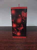 Свеча декупаж столбик прямоугольний (185-220 г), фото 1