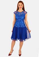 Нарядное платье с фатиновой юбкой 44 р