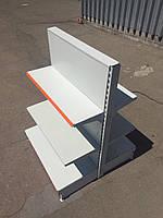 Двухсторонний островной стеллаж б.у. с полками БУ для магазина производство Модерн Экспо / WIKO / Regals