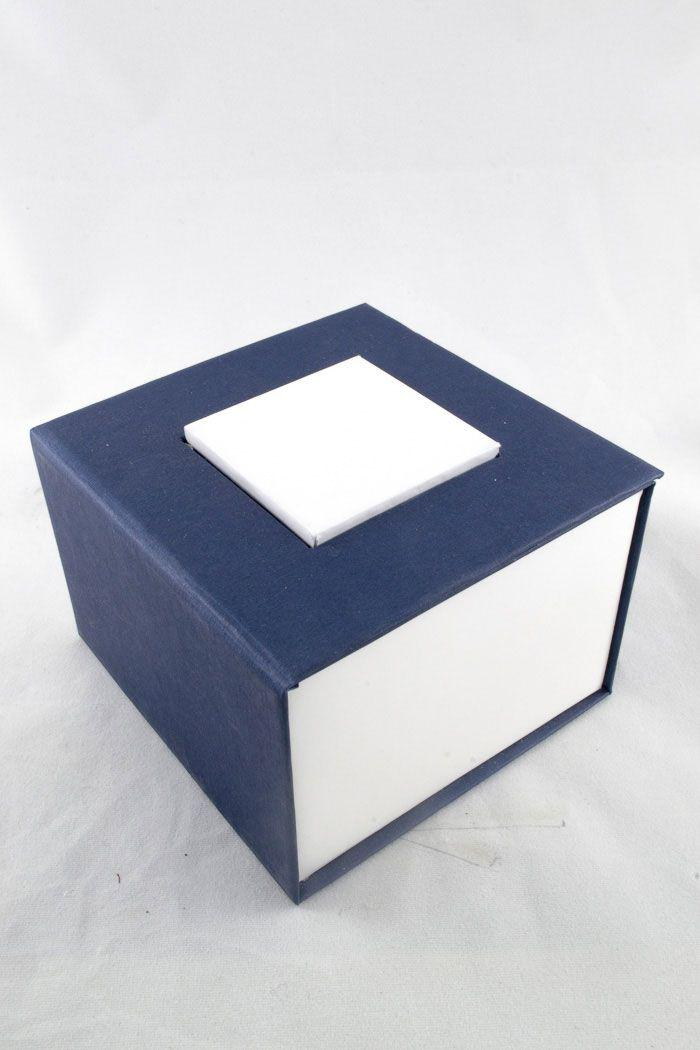 Сине-белая подарочная упаковка - коробка для часов ( код: IBW028ZO )
