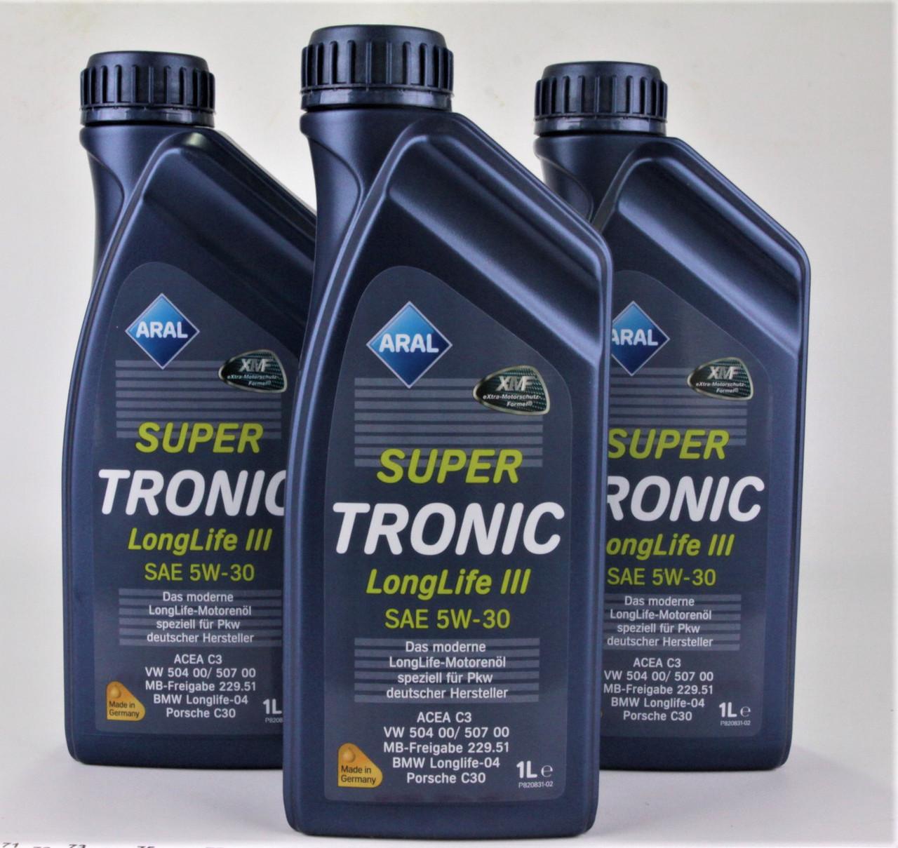Масло 5W30 Super Tronic LL III (1L)  (VW504 00/507 00/MB229.51/BMW Longlife-04), код 20478, ARAL