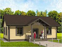 Деревянный каркасный дом 65 м2