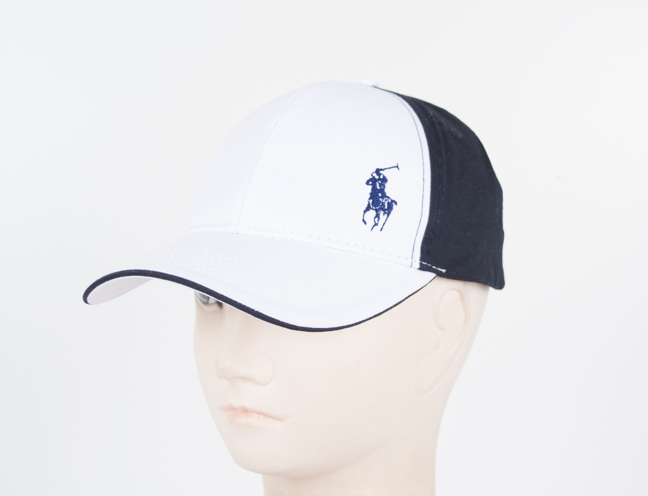 "Бейсболка ""Polo""  белый+синий"