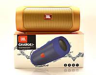 Беспроводная колонка JBL Charge 2+. Портативная Bluetooth колонка. Золото