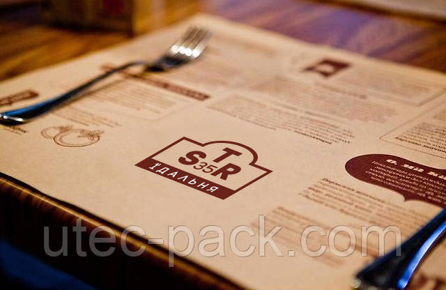 Сет на стіл на крафт папері, порізка листів на формати
