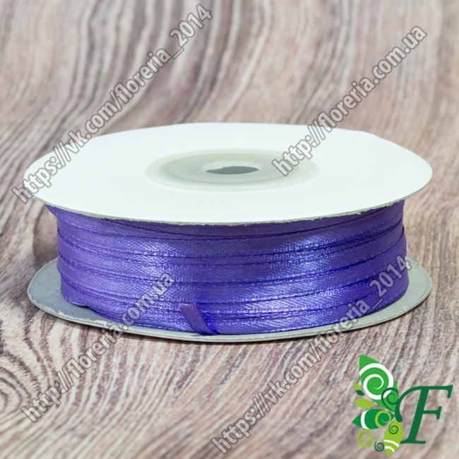115-Атласная лента 91м. 03мм фиолетовая