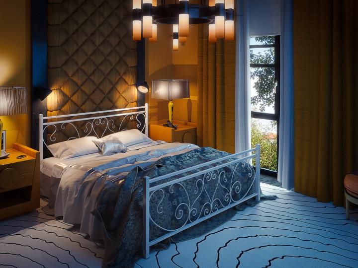 Кровать Монстера Белая 140*190 (Tenero TM)