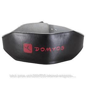 Пояс кожаный атлетический Domyos