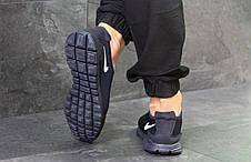 Мужские летние кроссовки Nike Free Run 3.0 темно синие 45,46р, фото 3