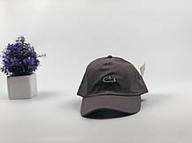 Кепка бейсболка Lacoste кожаный ремешок (серая), фото 2