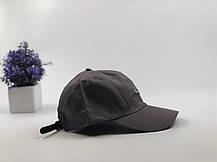 Кепка бейсболка Lacoste кожаный ремешок (серая), фото 3