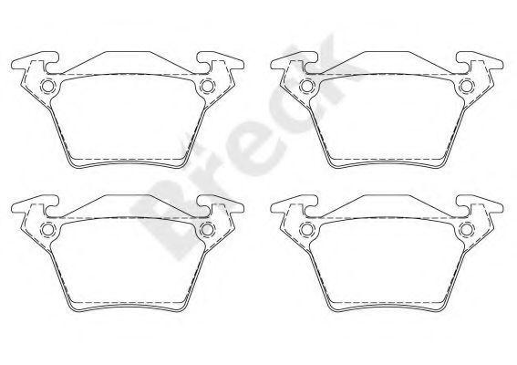 Колодки тормозные (задние) MB Vito (W638) CDI 98- (Bosch), код 23020 00 704 00, BRECK