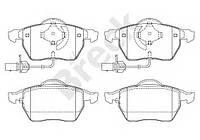 Колодки тормозные (передние) Audi A4/A6/Skoda Superb/VW Passat 1.9TDI/2.5TDI 96- (с датчиками), код 23018 00 701 10, BRECK