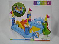 Надувной бассейн Замок с динозавриком Интекс 57138