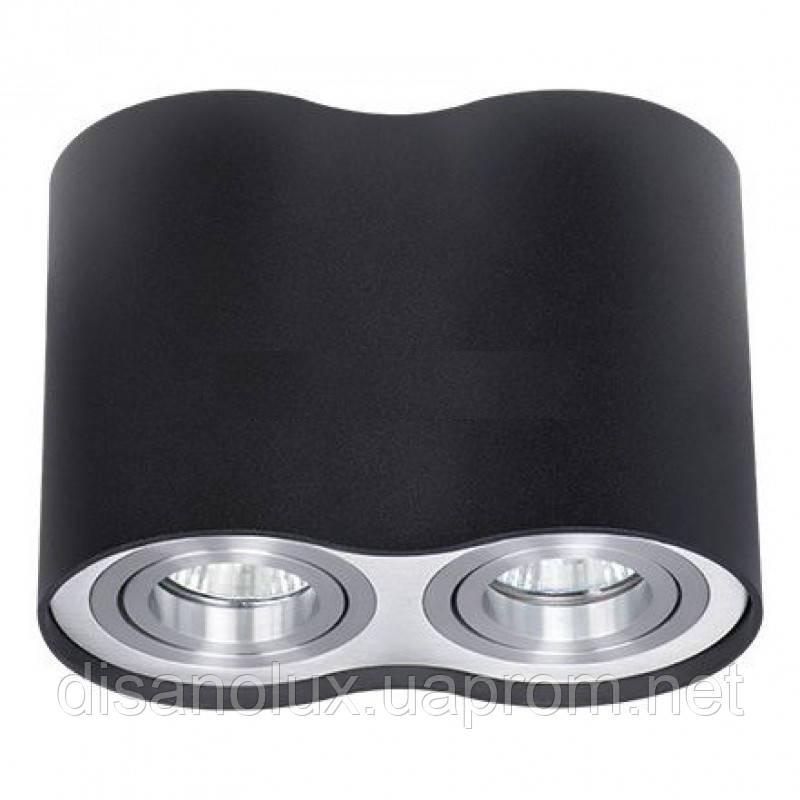 Светильник Downlight LED DL -102 2*GU10 230в черный