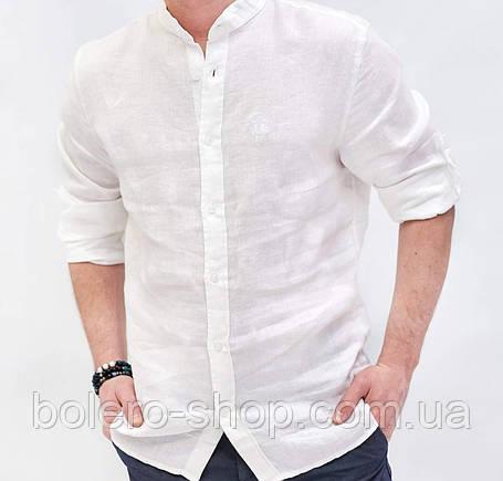 Рубашка мужская белая Лен  Brunello Cucinelli  3XL, фото 2