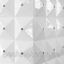 Біокамін EGZUL з кристалами Swarovski білий глянцевий, фото 3