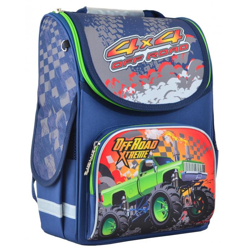 b38c2cf9c40f Ранец (рюкзак) - каркасный школьный для мальчика - Машинка монстер джип, PG-