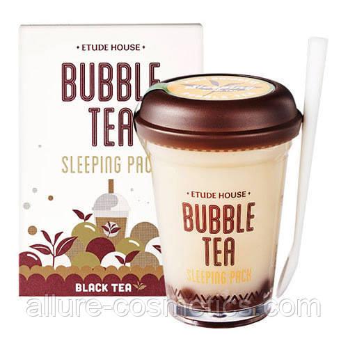 Ночная маска Etude House Bubble Tea Sleeping Pack Black Tea с черным чаем