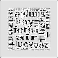 Решетка ABC белая 17*17