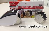 новинка !!! Роликовый нож с прессом - Rolling Mincer&Tenderizer 3 в 1
