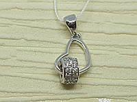 Серебряная подвеска с фианитами. Артикул 891, фото 1