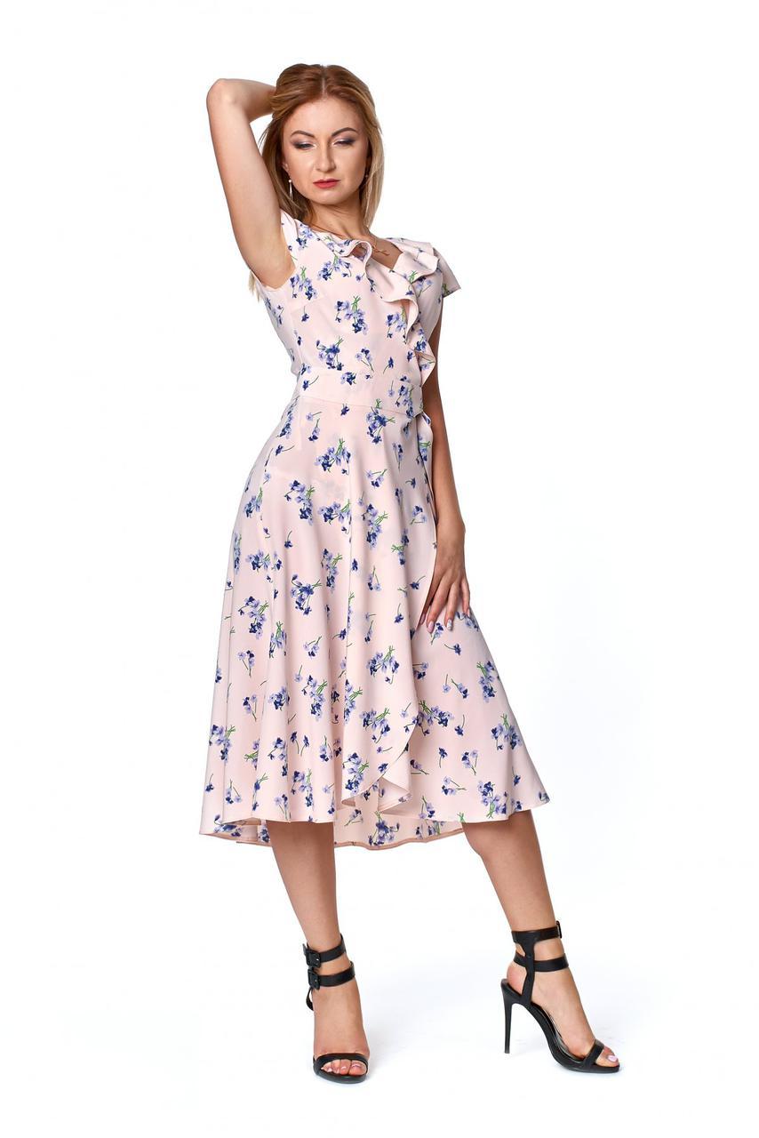 Літній ошатне спокусливе жіноче плаття на запах
