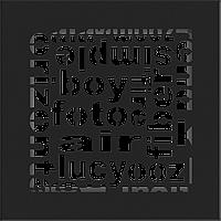 Решетка ABC черная 17*17, фото 1