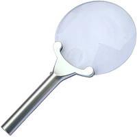 Лупа ручная круглая с подсветкой, 2,5+ 5-и кратное увеличение, диам.-130мм+25мм