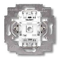 Механизм выключателя двухклавишный, безвинт. клем., ABB Elektro-Praga 3559-A05445