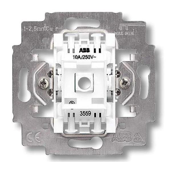 Механизм выключателя одноклавишный, безвинт. клем., ABB Elektro-Praga 3559-A01445