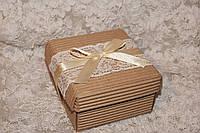 Бонбоньерка коробочка с крышечкой гофрированная 90х90х50