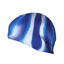 Шапочка для плавания Spokey Abstract для взрослых Onesize Сине-белая (s0122)