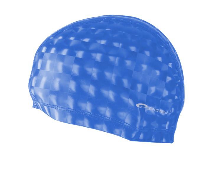 Шапочка для плавания Spokey Torpedo 3D для взрослых Onesize Синяя (s0138)